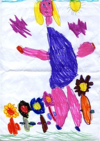 La Bambina Disegna Solo Sè Stessa Che Significa Viva La Mamma