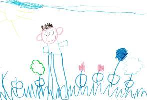 Il Bambino Disegna Treni Aerei Auto E Un Gran Sognatore Viva